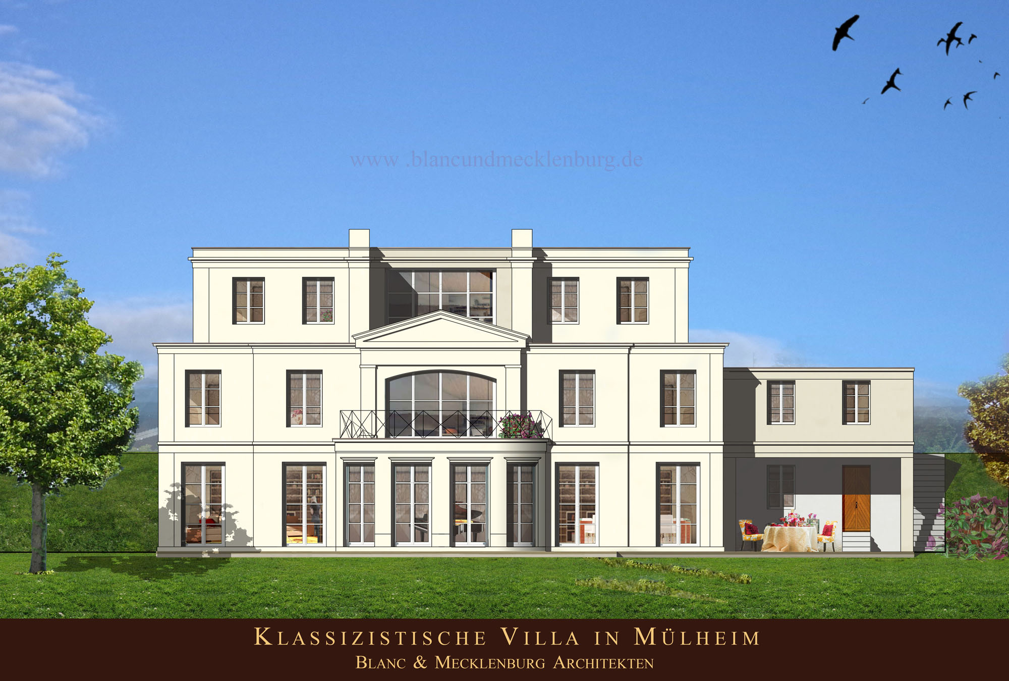 klassizistische villa m lheim architekten blanc mecklenburg. Black Bedroom Furniture Sets. Home Design Ideas